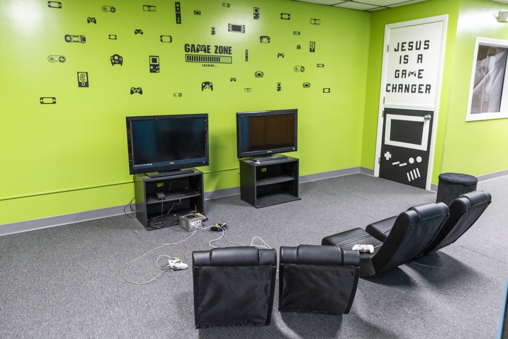 Photo of Video Game area for Students